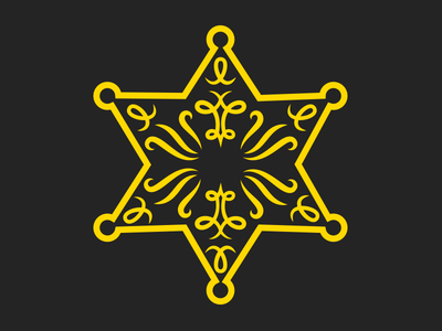 Old Timey Sheriff Star illustration vector western old west star badge police sheriff noun project iconography icon