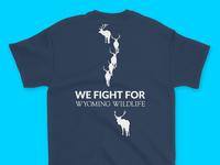 Wyoming Wildlife Advocates Elk Herd T-Shirt