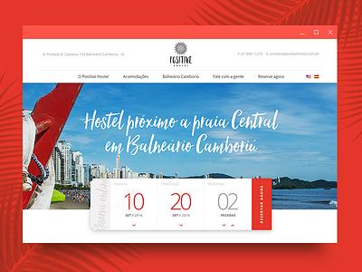 Positive hostel website turism hostel interface ux ui website