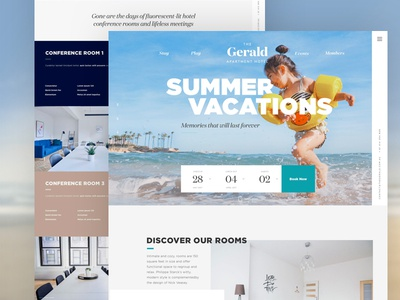 The Gerald Hotel website travel vacation apartments hotel