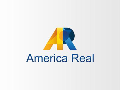 America Real - Logo private pension finance logo design