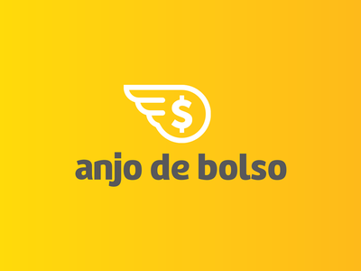 Anjo de Bolso - logo finance brazil logodesign app logo design