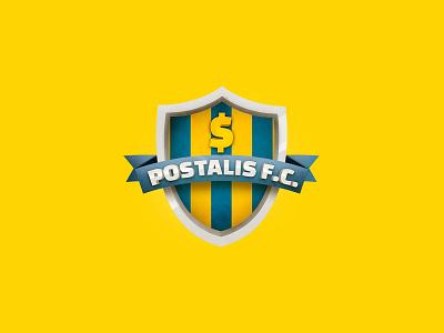 Postalis Football Club Shield brazil worldcup soccer gamification ads shield logo
