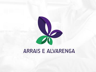 Arrais e Alvarenga - Brand Logo physiotherapist physiotherapy logo branding brazil