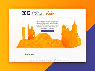 2016/2017 Annual Report Forluz desktop ui report landing page hotsite brazil