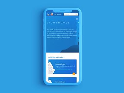 Lighthouse Finance App reports and data design app ui finance brazil