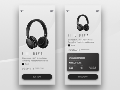 Credit Card Checkout – Daily UI #002 headphone dailyui ux ui payment shop checkout creditcard