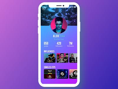 Daily UI #006 - User Profile iphone x challenge dj user profile ui ux dailyui