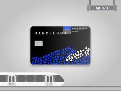 Barcelona Metrocard Redesign vector flat typography branding ux design ui barcelona city materialdesign product train redesign card metro