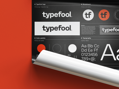 Typefool Brand Identity Poster logo design band poster brand guidelines graphic design brand identity poster branding guidelines brand identity stylesheet branding