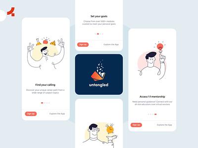 Untangled App | Onething Design interaction onething lms learning app app uiux uidesign ui ux design ux