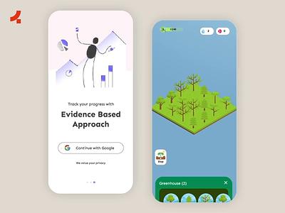 Atom App | Onething Design app design app interaction habit tracker habit illustration ux design uidesign design ui ux