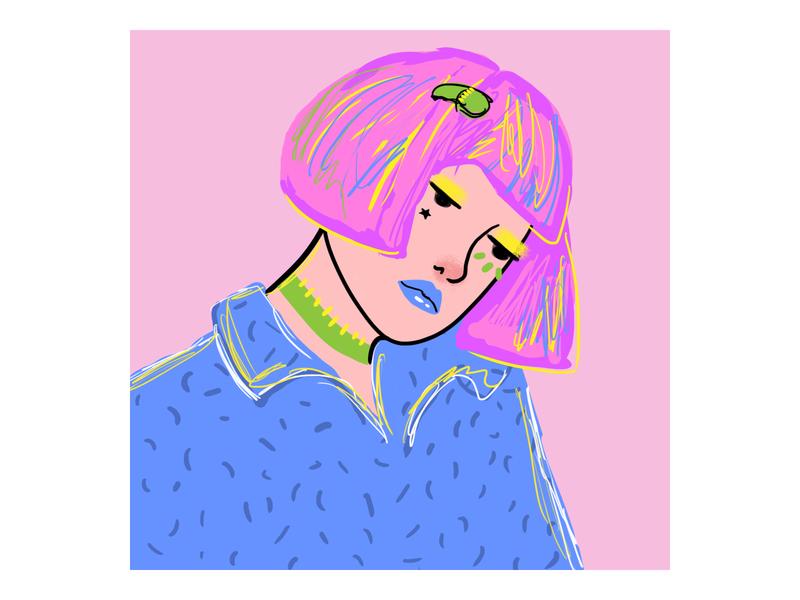 Portrait woman color woman portrait drawing digitalart artwork artist woman portrait