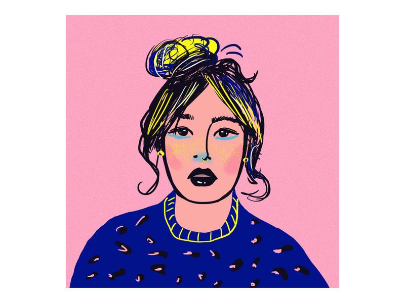 Portrait woman portrait color art illustration artwork digitalart artist woman portrait drawing