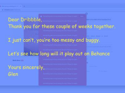 Goodbye Dribbble!