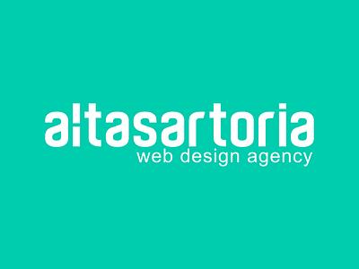 AltaSartoria web design agency logo web agency logo logotype branding