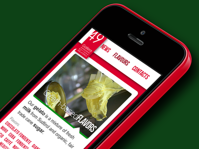 Galliera49 website mobile version rwd responsive web design web design