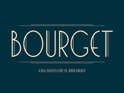 Bourget Typeface typography typeface artdeco display headline graphic branding editorial typedesign design type font
