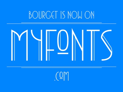 Bourget at Myfonts typeface headline graphic typography typedesign type font editorial display design branding artdeco