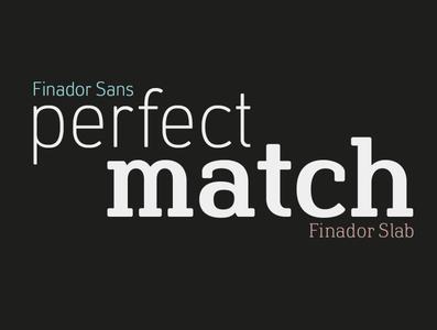 Finador Sans & Slab Font Family packaging graphicdesign font design logo editorial branding typography typeface typedesign