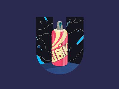 Ubik future utopia paint spraycan 36 days of type ipad pro letters 36daysoftype book procreate graphic illustration