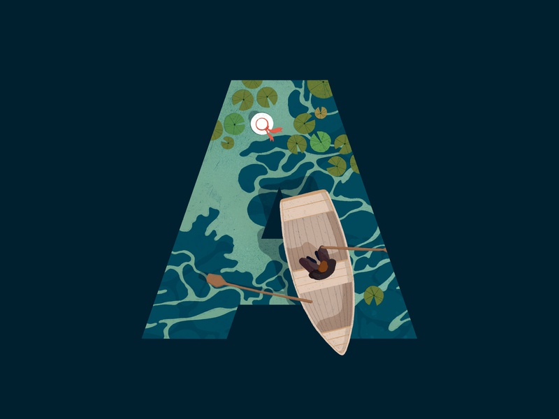 An American Tragedy procreate water american tragedy book boat letters 36 days of type tragedy graphic illustration