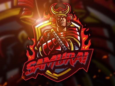Samurai Mascot Logo