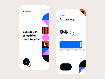 Set Up Your Team geometric art mobile teams mobile ui animation app design interaction design invision design app exploration invision studio ui