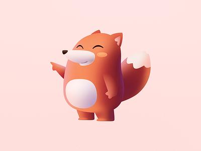 Mascot chubby mascot fox
