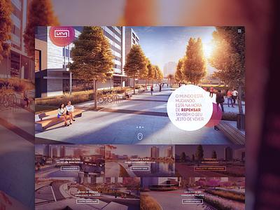 Parque Una Pelotas ui clean minimal architecture layout design web