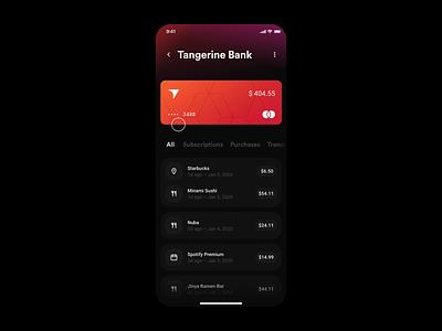 Wallet App – Spending report user interface exploration finance concept banking app banking wallet ux ui invision studio studio interaction design interaction app design app animation
