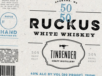Tinbender Whiskey Label