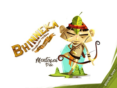 Mentawai Tribes concept inspiration bhinneka adobe bhineka cover art book art 2dart 2d artist mokobox indonesia graphic design illustration cartoon vector design graphic art character