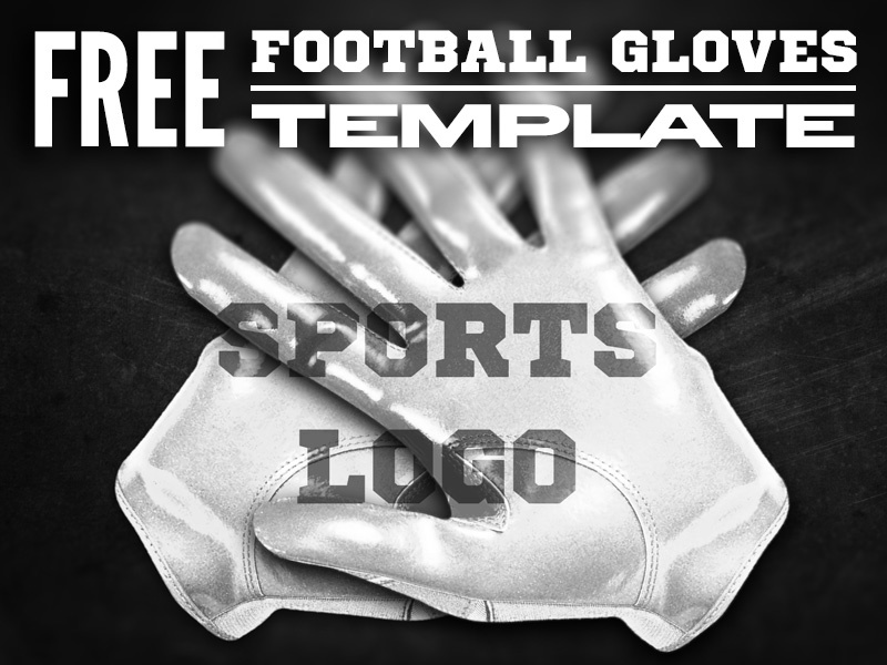 FREE Football Gloves Template template football american football football gloves gloves free .psd psd