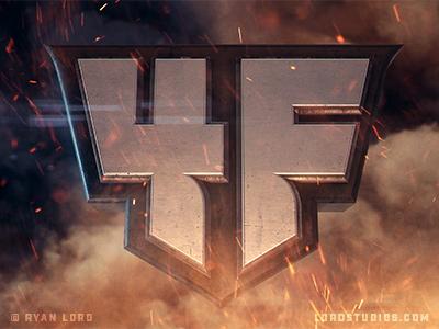 FourFront Logo Development after effects element 3d 3d logo