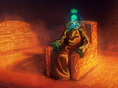 Mage King photoshop dd illustration crown skull wizard pathfinder dungeons and dragons