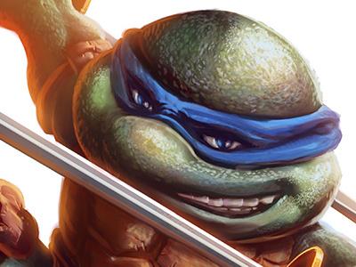 Leonardo Leads! photoshop digital painting illustration teenage mutant ninja turtles tmnt