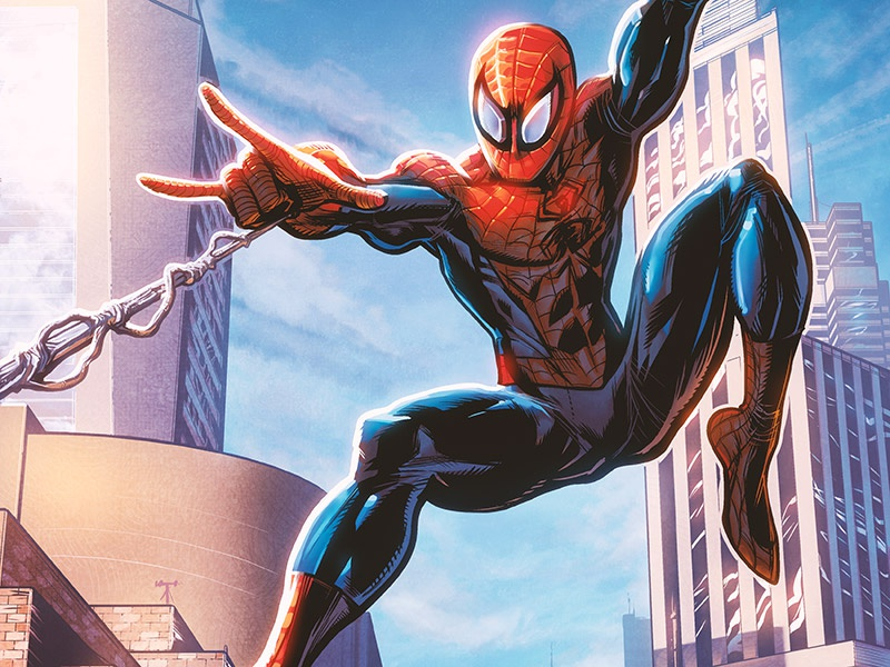 Spider-Man manga studio comic book art marvel comics spider-man photoshop thwip illustration