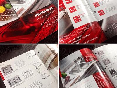 Kindred Catalog product photography kitchens print design catalog sinks franke kindred