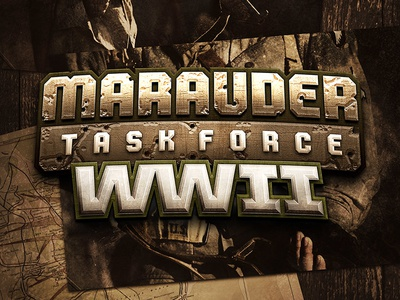 Marauder Task Force World War 2 action figures toyline toys wwii world war 2 logo logo design