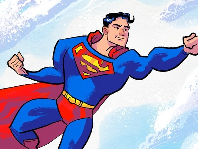 Up in the sky! superman illustration