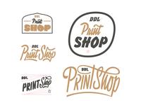 Unused Print Shop Logos