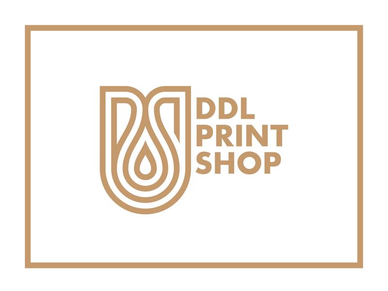 DDL Printshop Logo shop print league design delicious