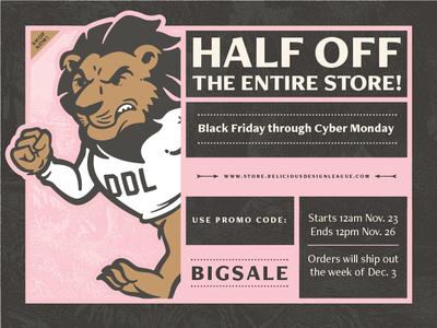BIG SALE! cyber monday black friday sale delicious design league