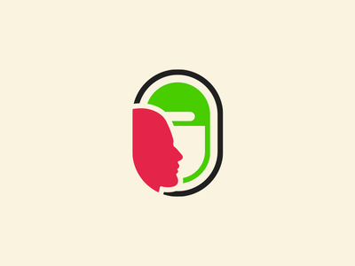Oblo Logo andrea vaduva icon people meet world trolley trip heart travel brand logo