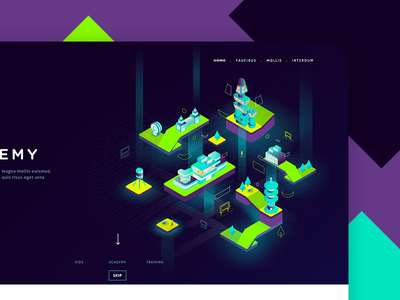 Homepage illustration color academy school future code tech illustration vaduva andrea