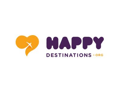 Happy Destination trip color identity happy destination passion love brand logo vaduva andrea