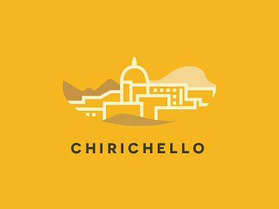Chirichello Logo path lineart city yellow andrea vaduva logo identity brand italy chirichello