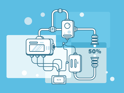 Discount Process machine wacom adobe blue andrea vaduva sales sale discount illustration