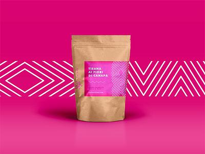 Tisana Packaging 1/3 project design paper bag cannabis way leaf illustrator vaduva andrea packaging